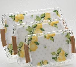 Набор подносов Mayer&Boch MB-3249 «Лимон»