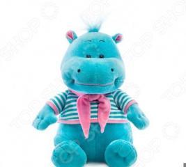 Мягкая игрушка со звуком Bradex «Бегемотик»