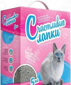 Наполнитель для кошачьего туалета Счастливые лапки комкующийся