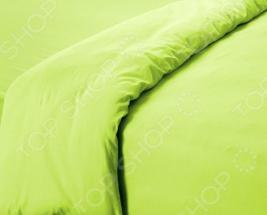 Пододеяльник трикотажный ТексДизайн гладкокрашеный. Цвет: салатовый