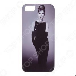 Чехол для iPhone 5 Mitya Veselkov «Одри в черном платье»
