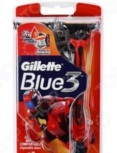 Набор бритв одноразовых Gillette Blue 3. Цвет: красный