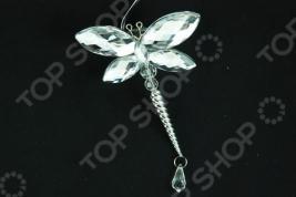 Новогоднее украшение Crystal Deco «Стрекоза» 1707684