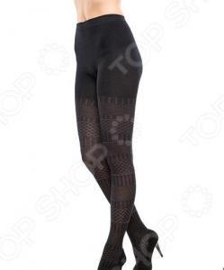 Колготки ажурные Burlesco R52183. Цвет: черный