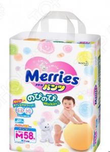 Трусики-подгузники Merries размер M 6-10 кг + 2 шт