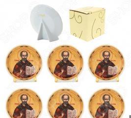 Набор круглых декоративных тарелок Elan Gallery «Николай Чудотворец»