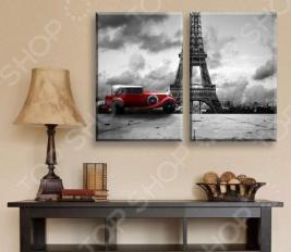 Картина 2-модульная ТамиТекс «Красная машина»
