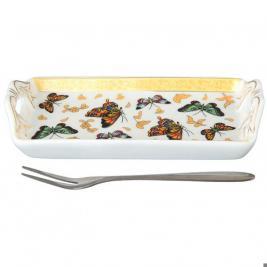 Тарелка для лимона с вилкой Elan Gallery «Бабочки»