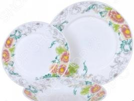 Набор столовой посуды Rosenberg RGC-100105, 18 предметов
