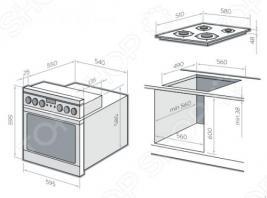 Комплект из духовки и рабочей поверхности Hansa BCMI64590015