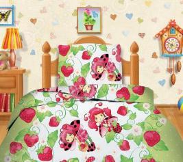Комплект постельного белья Кошки-Мышки «Клубничка». 1,5-спальный