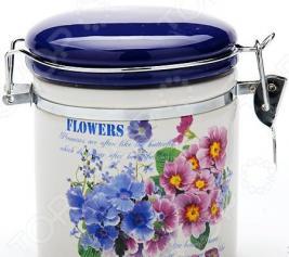 Банка для сыпучих продуктов Loraine Flowers