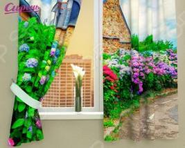 Фотошторы Сирень «Загородный сад»