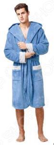Халат мужской Funny Bunny Sport. Цвет: голубой