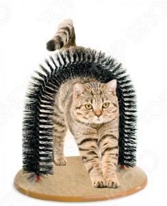 Когтеточка со щеткой «Кошачье удовольствие». Уцененный товар