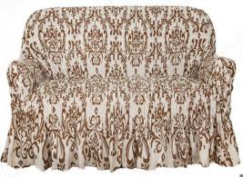 Натяжной чехол на двухместный диван Еврочехол «Фантазия. Венеция»
