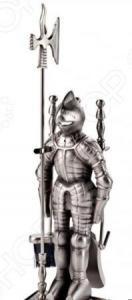 Набор для камина никелированный на подставке VORTEX «Рыцарь»