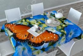 Фотоскатерть Сирень «Бабочка в цветах»