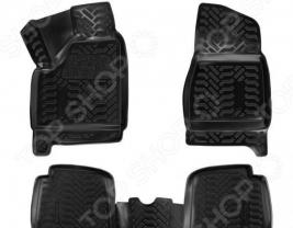 Набор ковриков в салон 3D с подпятником Airline ВАЗ 2131 Niva (5 дверей) / LADA 4x4