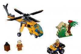 Конструктор игрушечный LEGO City «Грузовой вертолёт исследователей джунглей»