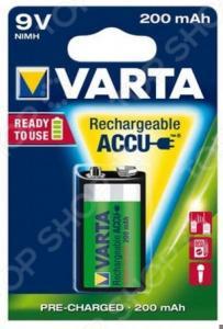 Батарея аккумуляторная VARTA 9V R2U 200 мАч