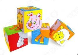Кубики обучающие мягкие Мякиши «Животные 2»