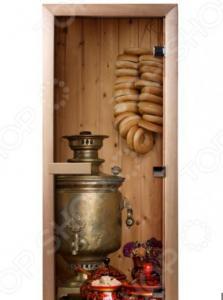 Дверь для бани с фотопечатью Банные штучки «Чаепитие» 32682