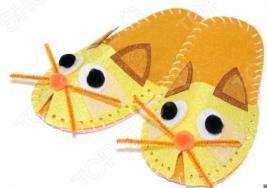 Набор для шитья из фетра Bradex «Шьем тапочки. Котик»
