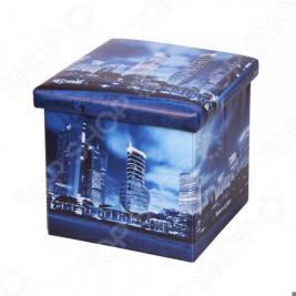 Пуф-короб для хранения Miolla Megapolis «Ночь»
