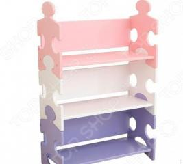 Стеллаж детский KidKraft Puzzle Bookshelf Pastel