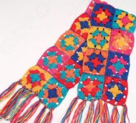 Набор для вязания крючком ALEX «Модные вещи из вязаных квадратов»