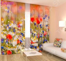 Фотошторы Сирень «Полевые цветы»