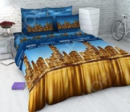 Комплект постельного белья Василиса «Ночной город». Семейный