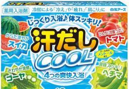 Соль для ванны Hakugen Eartn Asedashi COOL с экстрактами томата и люффы
