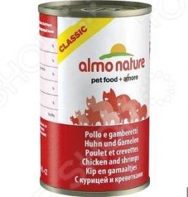 Корм консервированный для кошек Almo Nature Classic Chicken and Shrimps