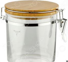 Контейнер для хранения сыпучих продуктов Winner с деревянной крышкой