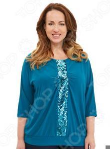 Блуза Blagof «Лунная дорожка». Цвет: бирюзовый