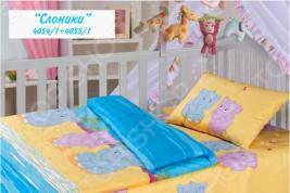 Детский комплект постельного белья Облачко «Слоники Котята»