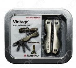 Мультитул Swiss+Tech Vintage Corkscrew Tool 8-in-1 в подарочной упаковке