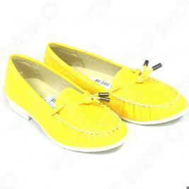 Мокасины женские АЛМИ Лето. Цвет: желтый