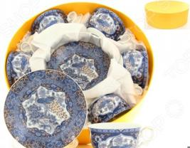 Чайный набор с ложками Elan Gallery «Павлин синий» 180787