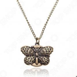 Кулон-часы Mitya Veselkov «Бабочка в бронзе»