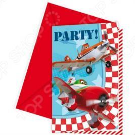 Приглашения в конвертах Procos «Самолеты»