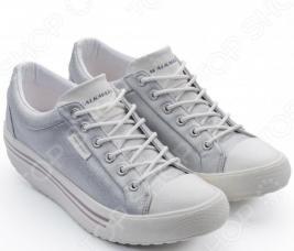 Кеды Walkmaxx Comfort 3.0. Цвет: серебряный