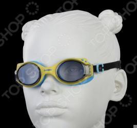 Очки для плавания Larsen DS27. Цвет: желтый, синий