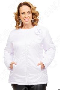 Куртка СВМ-ПРИНТ «Тонкий вкус». Цвет: белый