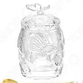 Горшочек для меда Elan Gallery с ложкой «Бабочки»