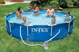 Бассейн каркасный с аксессуарами Intex с28218