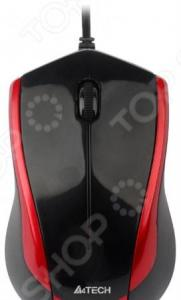 Мышь A4Tech N-400-2 Red-Black USB