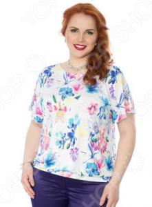 Блуза Wisell «Южный ветер». Цвет: белый, сиреневый